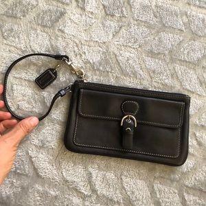 Coach genuine leather wristlet,